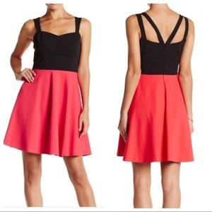 NWT CeCe Margot Colorblock Scuba Dress Sz 4
